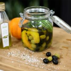 Local olives marinated in orange
