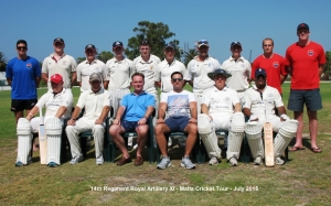 Marsa CC and 14th Regiment Royal Artillery XI battle it out on the cricket field