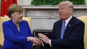 Merkel and Trump discuss future of Iran nuclear deal and ongoing trade relations