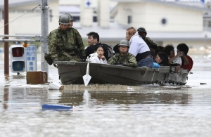 Floods terrorise Japan as rainfall persists