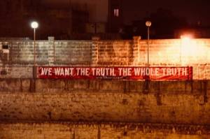 'We want the truth. The whole truth'