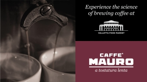 Discover the science of brewing coffee and molecular sorbet at Valletta's market
