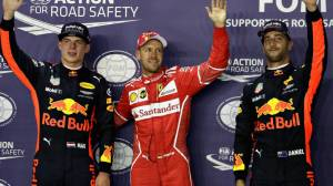 Sebastian Vettel wins pole at Singapore