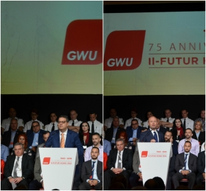 Joseph Muscat and Adrian Delia spar over foreign workers at GWU congress