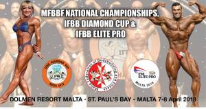 MFBBF National Championships, IFBB Diamond Cup Malta & IFBB Elite Pro Show 7-8 April 2018
