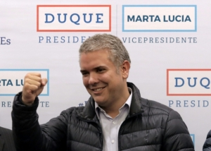 Conservative politician Ivan Duque wins Colombia's presidential election