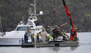 Sydney seaplane wreckage pulled from river after crash