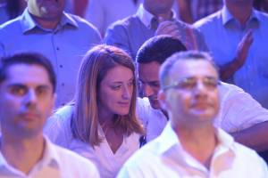 [WATCH] Shots of Roberta Metsola clearly bored at Delia's first speech