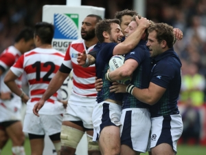 Rampant Scotland burst Japan's bubble