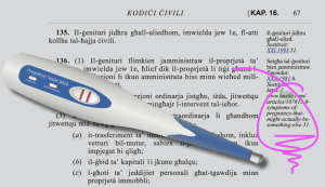 Copy-paste fail links Maltese law to web article on pregnancy symptoms