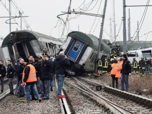 Three dead and many injured as train derails near Milan, Italy