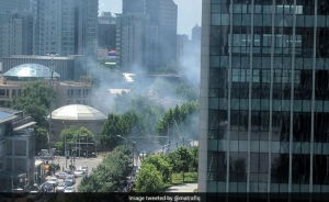 Blast reported outside US embassy in Beijing