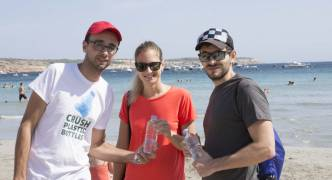 Malta's landfill issue addressed with 'Crush Plastic Bottles' at Ghadira Bay
