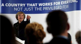 UK equity market rallies as Prime Minister May trots in