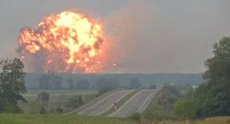 Ukraine: Leaders blame 'sabotage' for explosion at munitions depot