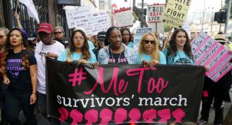 Thousands march in LA in support of sexual assault victims