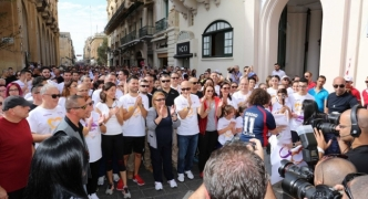 Thousands make the trek from Rabat to Valleta to raise money for charity
