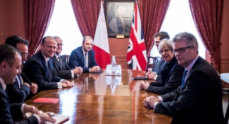 Prime Minister meets with Theresa May at Westminster Abbey