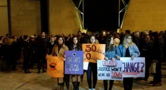 Silent protest held in honour of Daphne Caruana Galizia