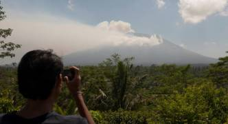 Bali: Over 134,000 evacuated as 'increasingly active' volcanoes continue to rumble