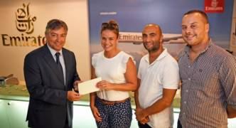 Radio listener Alexandra Vella wins a holiday in Cyprus with Emirates