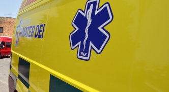 Motorcyclist suffers grievous injuries in traffic accident