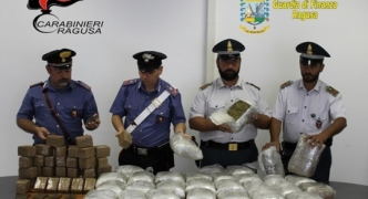 50kg of cannabis seized in Ragusa, destined for Malta