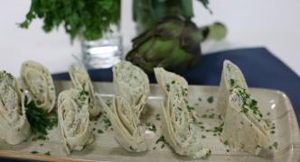 Artichoke and ricotta wraps