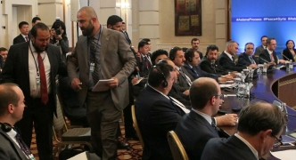 Syrian rebels walk out of Astana meeting as 'safe zone' deal is signed