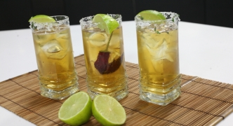 Spicy beer and tequila cocktail