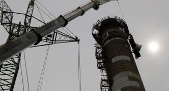 Dismantling of 1984 Marsa boiler chimney underway