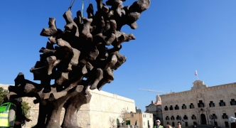 Mintoff monument sculptor's 'flame' on Castille Square celebrates Maltese emancipation