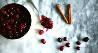 Spicy cranberry sauce