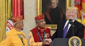 [WATCH] Trump makes 'Pocahontas' joke as ceremony honouring Native American veterans