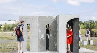 This concrete pavilion in Denmark is the work of two young Maltese architects