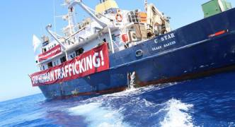 Far-right vigilante boat C-Star just off Malta, claims to be heading to Cyprus