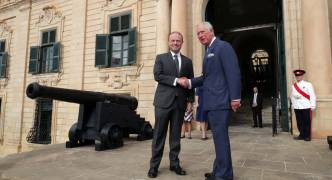Prince of Wales in Malta today in commemoration of George Cross award anniversary