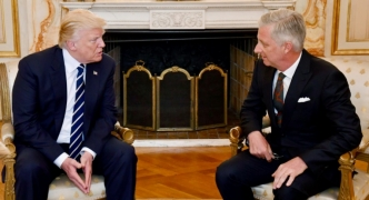 Trump meets wary NATO and EU for 'tough' talks in Brussels