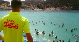 Lifeguards kept busy at Blue Lagoon as rip currents drag swimmers away