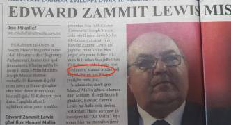 Manuel Mallia is a minister in il-mument's blunder