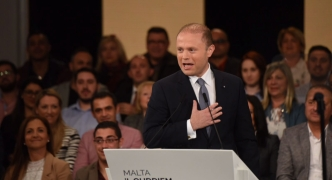 [WATCH] Joseph Muscat: 'I swear in God's name that I will keep telling the truth'