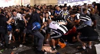 Juventus fans hurt in Turin square stampede