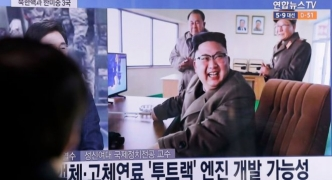 North Korea 'conducts high-thrust rocket engine test'