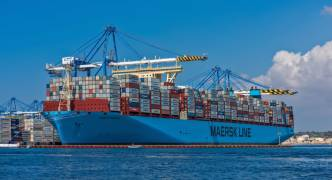 One of the world's largest vessel enters Freeport on maiden voyage