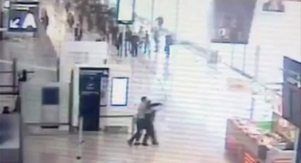 CCTV footage emerges of Paris Orly gun attack