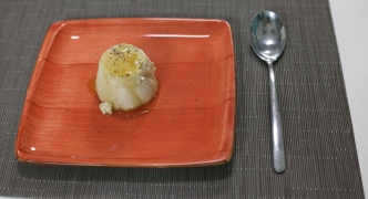 Jasmine tea pannacotta with honey