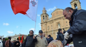 In the Press: Maltese 'patriots' hand out pork sandwiches during Msida protest