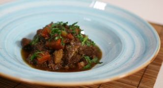 Braised pork cheeks