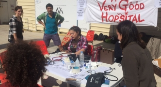 Medical students rally against privatisation of public healthcare