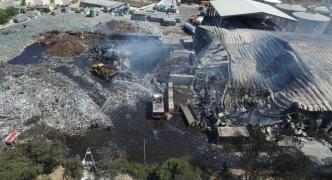 [WATCH] Sant'Antnin plant fire: drone footage reveals extent of damage